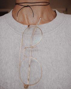 Leather thong necklace | @styleminimalism