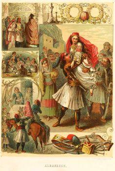 Albanesen 1871 (Albanian/Arvanite wedding probably in Attica