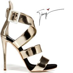 giuseppe-zanotti-gold-platinum-waffer-sandal- Spring 2013