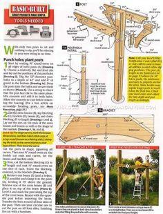 #2519 Arbor Swing Plans - Outdoor Furniture Plans