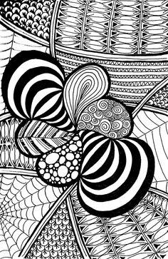 """Zentangle (1) Full"" by nemorosastudio   Redbubble"