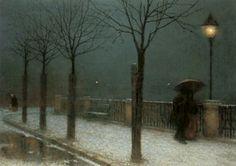 Winter Night by Jakub Schikaneder 1855 – 1924