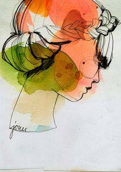 Ilustración, acuarela y mujeres de EKATERINA KOROLEVA