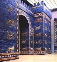 The Ishtar Gate, built by King Nebuchadnezzar was the eighth gate to the inner city of Babylon. The Ishtar Gate is one of the most wonderful exhibits in the famed Pergamon Museum in Berlin, Germany. The museum houses the world's most extraordinary collections of middle-eastern architectural archaeology.
