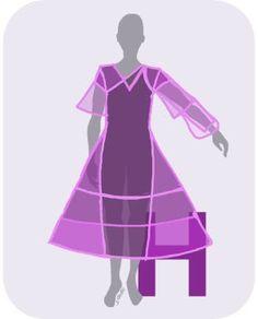 Das sind die optimalen Kleider-Silhouetten für den H-Figur-Typ.