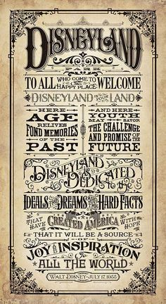 ✶ Disneyland Welcome Speech Poster from 1955 ★