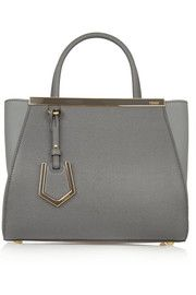 2Jours small textured-leather shopper