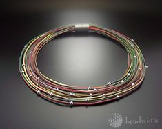 extruded polymer clay necklace by bettina Welker