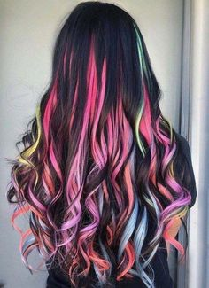 104 pastel and also hidden rainbow hair color ideas- 104 Pastell und auch versteckte Regenbogen-Haarfarbe-Ideen 104 pastel and also hidden rainbow hair color ideas - Cute Hair Colors, Pretty Hair Color, Beautiful Hair Color, Hair Color Purple, Hair Dye Colors, Dark Hair With Color, Amazing Hair Color, Exotic Hair Color, Hidden Hair Color