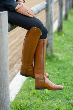 Konigs Custom Dress Boots, convenient with zipper, brown eyecatcher