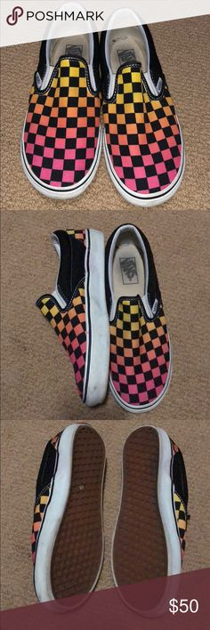 bb93e6cc1c Slip-On Ombré Checkered Vans Love these shoes. I don t branch out