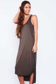 Aria Dress - High Low Dress Featuring Knotted Racer Back Detail