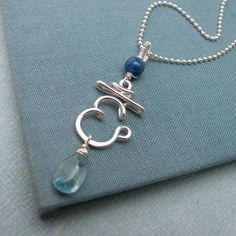 Throat Chakra Necklace with chalcedony by Laladesignstudio on Etsy, $80.00