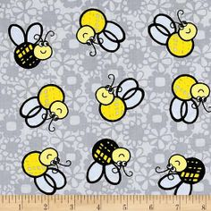 Kanvas What's The Buzz Bee Yellow Buzz Bee, Accent Decor, Fabric Design, Sewing Projects, Snoopy, Quilts, Yellow, Stuff To Buy, Bees