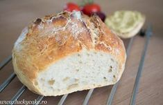 no knead bread Lucky Cake, No Knead Bread, Romanian Food, What To Cook, Bread Baking, Bread Recipes, Easy Recipes, Hamburger, Food To Make