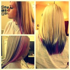 Blonde pink and purple hair :) love it