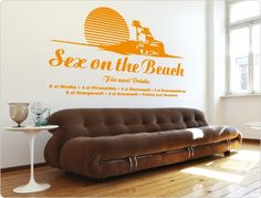 Wandtattoo Cocktail Sex on the Beach Moon Decor, Normal Wallpaper, Wall Tattoo, Nursery Wall Decals, Plant Decor, Wall Design, Wall Stickers, Cocktails, Colours