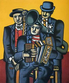 Three musicians - Fernand Leger, might be interesting to compare this painting to those by other artists with the same subject matter. Art Pop, Painting Wallpaper, Painting & Drawing, Modern Art, Contemporary Art, Sonia Delaunay, Figurative Kunst, Georges Braque, Art Moderne