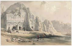 Petra, Eastern End of the Valley | Cleveland Museum of Art, David Roberts