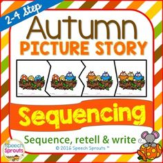 Fall Sequencing, Picture Story Retell and Write
