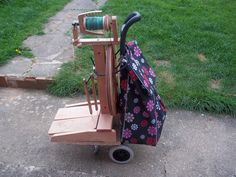 Lucy 'In the sky': Kiwi Spinning Wheel Trolley - A Thrifty Invention