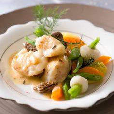 Découvrez la recette Navarin de lotte aux morilles sur cuisineactuelle.fr.