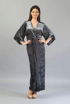 Rochie gri din catifea R040G -  Ama Fashion Fashion, Dress, Moda, Fashion Styles, Fashion Illustrations