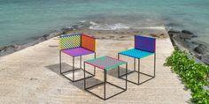 SaloneSatellite 2016 se vistió de colorido con la colección de sillas Moris, mobiliario al estilo rattan con materiales diversos y realizados por Richa Gujadhur.