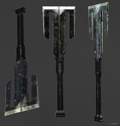 Avengers: Infinity War Concept Art by Jerad Marantz Zombie Weapons, Sci Fi Weapons, Weapon Concept Art, Weapons Guns, Fantasy Sword, Fantasy Weapons, Concept Art World, Sword Design, Battle Axe