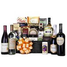 The Ultimate Gift Basket certainly lives up to its name. This gift basket is unique, truly decadent and features the perfect combination of champagnes, wines and gourmet accoutrements. Champagne Gift Baskets, Wine Gift Baskets, Gourmet Gift Baskets, Mothers Day Baskets, Merlot Wine, Pinot Noir Wine, Dom Perignon, The Ultimate Gift, Wine Packaging