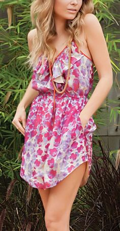Cherry Blossom Ruffle Dress <3