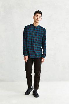 Publish Sean Plaid Popover Shirt - Urban Outfitters