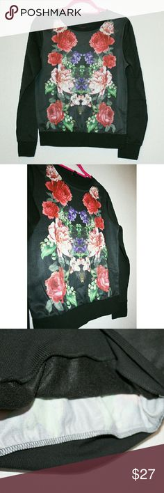 ✨$5⬇ PRICE DROP✨ South Pole Floral Sweatshirt NWT This unique sweatshirt has a beautiful digitally printed floral design on the front, mirrored like a colorful Rorschach test. The inside is soft fleece, but it's not a heavy sweatshirt. Fabric is 100% polyester. It's a junior's medium, so I listed as small. South Pole Tops Sweatshirts & Hoodies
