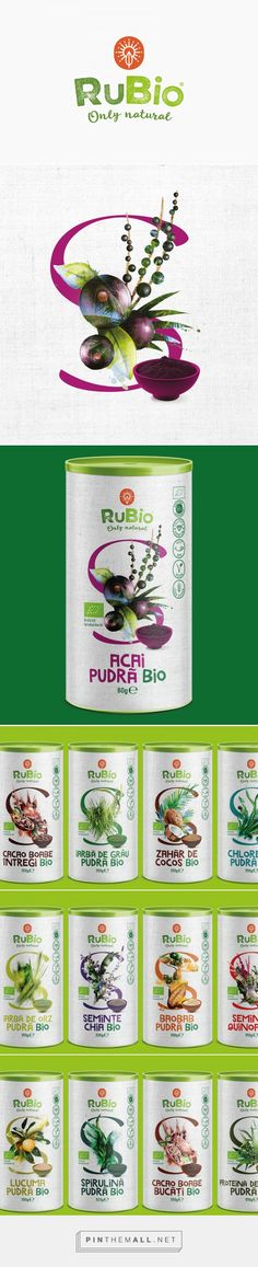 RuBio Superfoods packaging design by Horea Grindean - http://www.packagingoftheworld.com/2016/10/rubio-superfoods.html