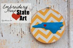 it's just Laine: DIY: Embroidery Hoop State Love Art