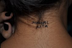 """""""This is my first tattoo, I got it on my 18th birthday. It says """"mahal kita"""" which means """"I love you"""" in tagalog (filipino) and it's written in my fathers handwriting. My mom is filipino and my dad is caucasian so I wanted a tattoo that evenly represented them both, and I thought this was appropriate. My tattoo artist was Juan from Orlando Tattoo Company."""""""
