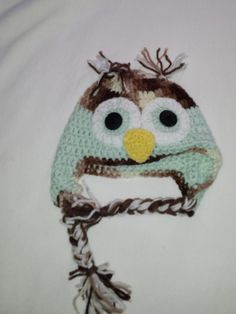 Owl beanie, owl hat, childrens beanies, childrens hats, green owl beanie, navy owl beanie, accessories, hats and scarfs, crocheted beanies by JenneLane on Etsy