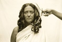 Pushpamala N and Clare Arni, Toda H-26 from the Ethnographic Series. Native Women of South India: Manners and Customs, sepia toned silver pr...