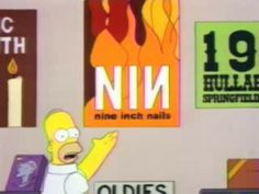 "The Simpsons - Homerpalooza - ""Now here are some of your no-name bands: Sonic Youth? Nine Inch Nails?"" - http://xaqly.tumblr.com/post/80064555262"