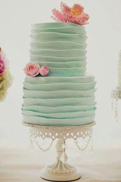Cake Inspiration - 2 Tier, Round, Vintage, Ruffles
