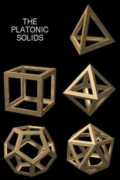 platonic solids - add led and mirror for magic Solid Geometry, Sacred Geometry Patterns, Sacred Geometry Art, Geometric Drawing, Geometric Shapes, Techno, Mathematics Geometry, Platonic Solid, E Mc2