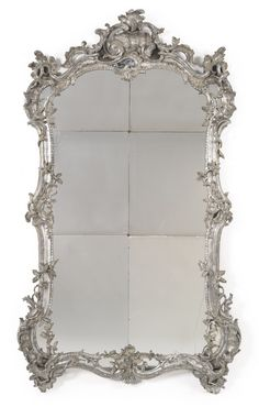 A large German Rococo carved and silvered mirror mid-18th century | Lot | Sotheby's