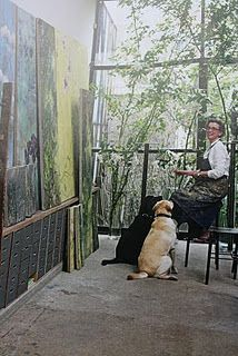 Claire at work. I've seen articles on her, possibly in Gardens Illustrated. Wow. Gorgeous paintings.