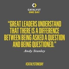 #Leadership #GreatLeaders #AndyStanley #CatalystOneDay