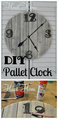 Pallet Clock - Pallet Furniture Ideas with 25 Complete DIY Projects - Page 3 of 3 - I Heart Crafty
