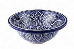 Fatima - Niebieska umywalka  z Maroka