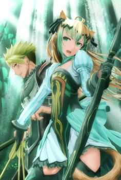 Rider and Archer (Achilles and Atalanta) - Fate Apocrypha