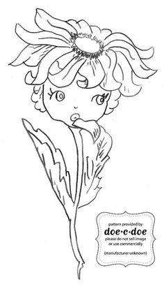 doe-c-doe's flower girl, to be put on a tea towel.