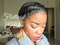 Natural Hair - Protective Styling Halo Tutorial!! - YouTube