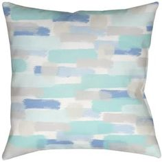 26 x 26 Square Floor Pillow Kess InHouse Mareike Boehmer Simplicity Teal White
